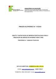 Pregão Eletrônico 47-2010 - Serviço de Internet para os ... - IFRS