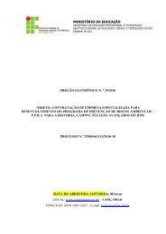 Desenvolvimento do PPRA do IFRS - Reitoria, Campus e Núcleos