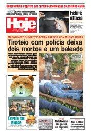 Tiroteio com polícia deixa dois mortos e um baleado - Jornal Hoje