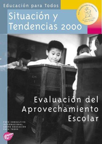 Evaluación del aprovechamiento escolar ... - unesdoc - Unesco