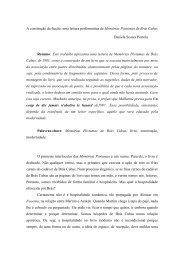 uma leitura performática de Memórias Póstumas de Brás Cubas