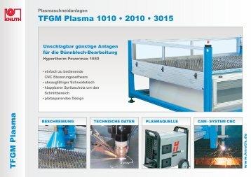 TFGM Plasma TFGM Plasma 1010 • 2010 • 3015 - Knuth.de