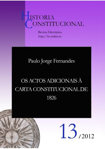 os actos adicionais à carta constitucional de 1826 - Atlas ...