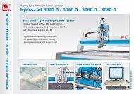 Hydro-Jet 3020 D • 3040 D • 3060 D • 3080 D - Knuth.de