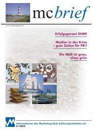 Die Welt ist grau, ohne grün - Marketing-Club Schleswig-Holstein eV