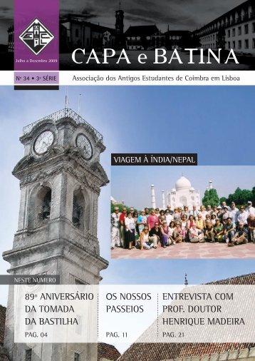 Capa e Batina Miolo 34FINAL:CeB_miolo - aaec - lisboa