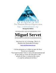 Pensamentos de Miguel Servet - Ordo Svmmvm Bonvm