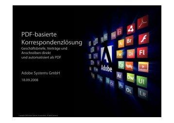 PDF-basierte Korrespondenzlösung - koan solution