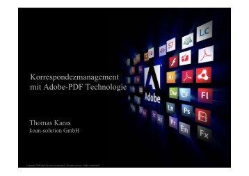 Korrespondezmanagement mit Adobe-PDF ... - koan solution