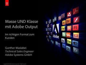Masse UND Klasse: mit Adobe Output – - koan solution