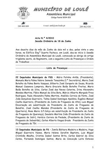 município de loulé - Câmara Municipal de Loulé