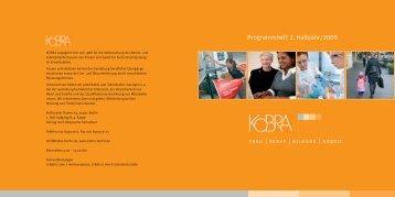 Programmheft 2. Halbjahr/2009 - Kobra