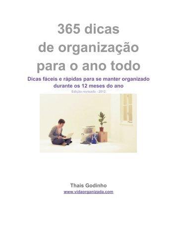 365 dicas de organização para o ano todo - Vida Organizada