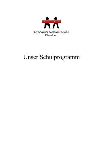 Unser Schulprogramm - Gymnasium Koblenzer Straße