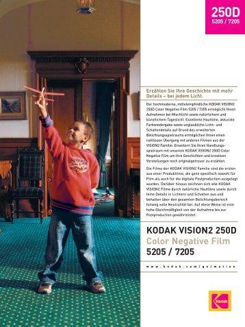 KODAK VISION2 250D Color Negative Film 5205 / 7205