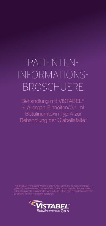 Patientenbroschüre Vistabel zum Herunterladen
