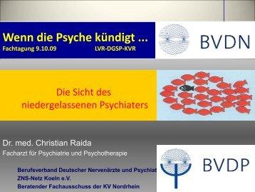 Wenn die Psyche kündigt ... Fachtagung 9.10.09 LVR-DGSP-KVR