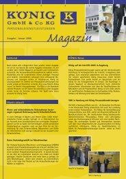 Kundenzeitung Ausgabe 1 2006 - KÖNIG GmbH & Co KG