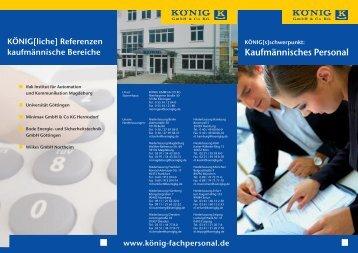 """Download """"Flyer Kaufmännisches Personal"""" - KÖNIG GmbH & Co KG"""
