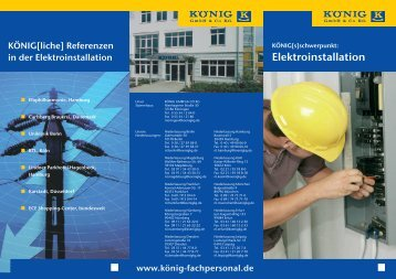 "Download ""Flyer Elektroinstallation"" - KÖNIG GmbH & Co KG"
