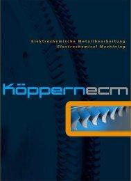 Electrochemical Machining Elektrochemische Metallbearbeitung
