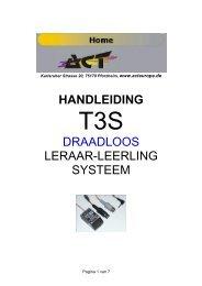HANDLEIDING DRAADLOOS LERAAR-LEERLING ... - ACT Europe