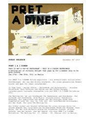 PRET I A I DINER - Kofler & Kompanie