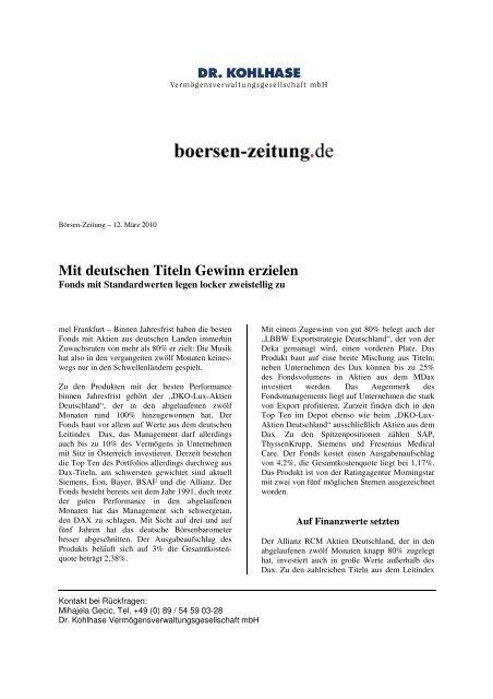 20100312_Mit deutschen Titeln gewinn erziehlen - Dr. Kohlhase