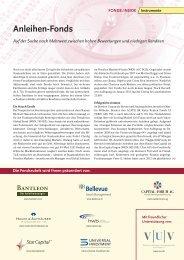 Anleihen-Fonds - Dr. Kohlhase
