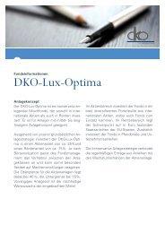 Produktflyer DKO-Lux-Optima - Dr. Kohlhase