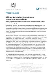 PRESS RELEASE ADA and Marietta join Forces to serve International