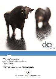 Verkaufsprospekt April 2013 DKO-Lux-Aktien Global ... - Dr. Kohlhase