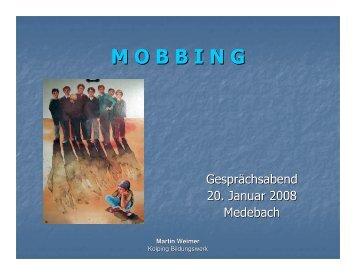 Vortrag zum Thema Mobbing