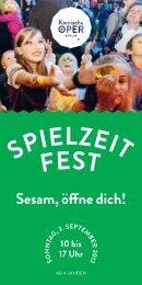 Flyer Spielzeitfest - Komische Oper Berlin