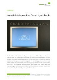 Hotel-Infotainment im Grand Hyatt Berlin - komma,tec redaction GmbH