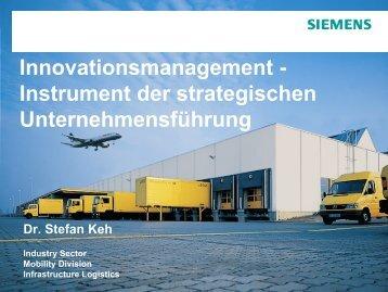 Innovation - Instrument der strategischen Unternehmensführung