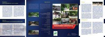 Familienfreundliche Landschaftsplanung Qualitätsoffensive Freiraum