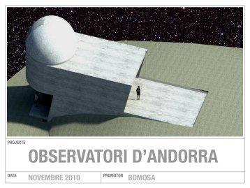 Presentació del Observatori d'Andorra - Bomosa
