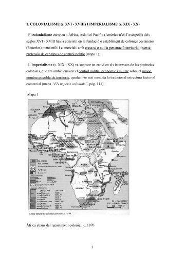Colonialisme i Imperialisme - IES Sant Vicent Ferrer