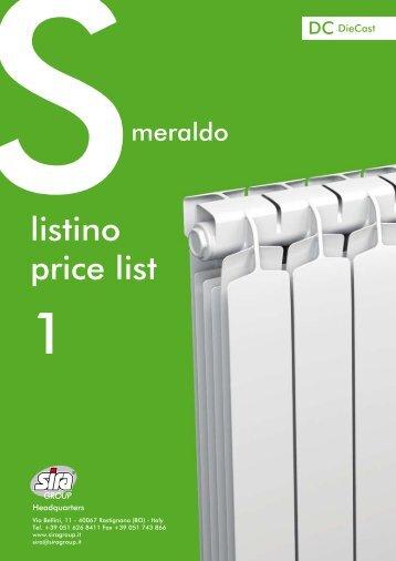 listino price list - Sira Group