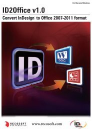 ID2Office® v1.0 (InDesign® to Office) - Actino Software GmbH