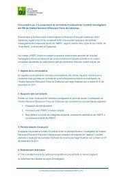Convocatòria 2012 - Agència per a la Qualitat del Sistema ...