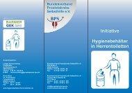 Flyer Hygienebehälter - Deutsche Kontinenz Gesellschaft