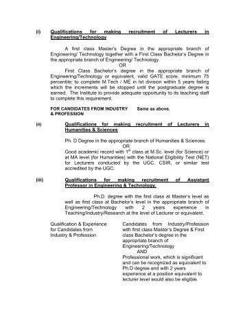 Qualification For Teaching