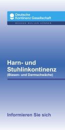 Harn- und Stuhlinkontinenz - Deutsche Kontinenz Gesellschaft