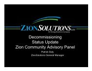 ZCAP meeting presentation - Zion Solutions