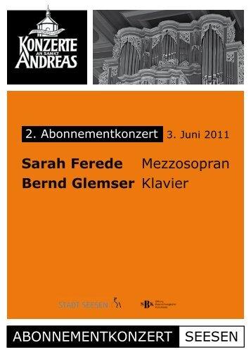 Programmheft - Konzerte an Sankt Andreas