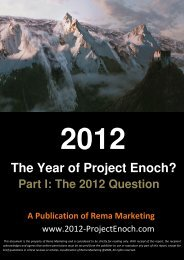 2012 - The Year of Project Enoch? - yhwh-glory-end-time-ministry.com