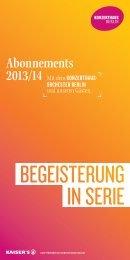 Abo-Broschüre 2013/14 - Konzerthaus Berlin