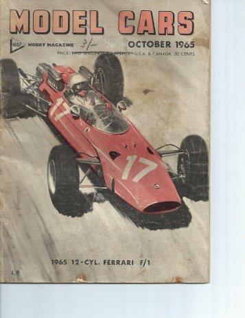 Model Cars October 1965